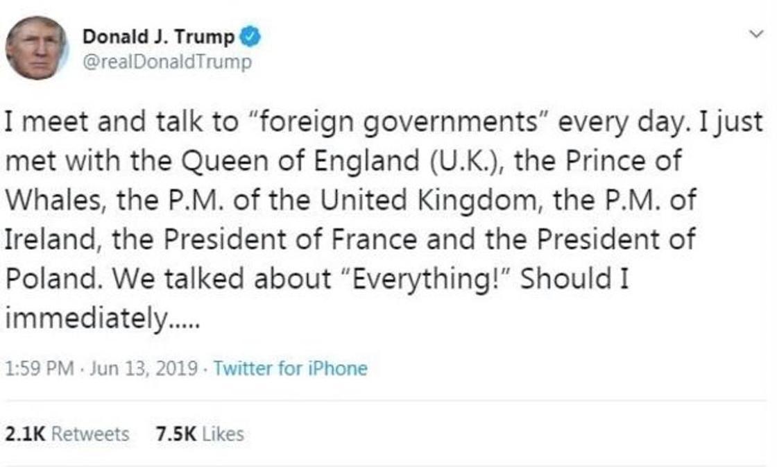 Чарльз, принц китов. Дональд Трамп перепутал титул сына королевы