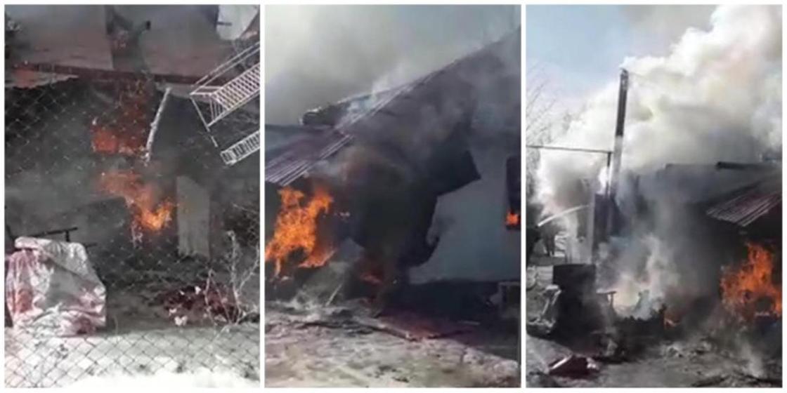 15-летняя девочка в Актобе спасла при пожаре свою маму