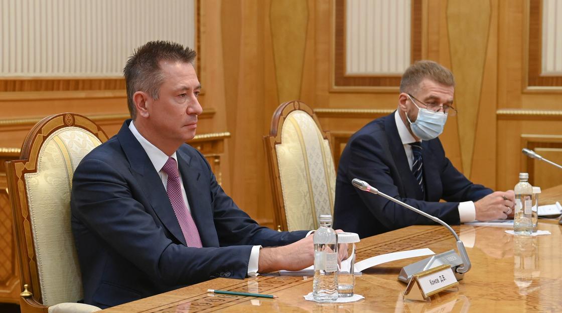 Дмитрий Конов на встрече с Касым-Жомартом Токаевым