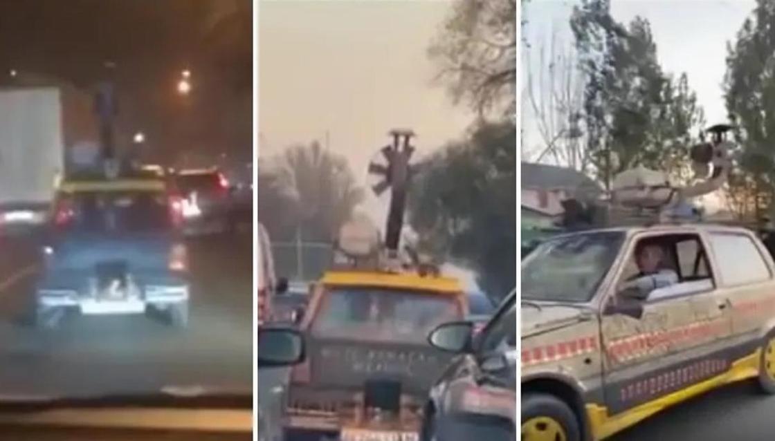 Водителя «авто на дровах» оштрафовали в Алматы