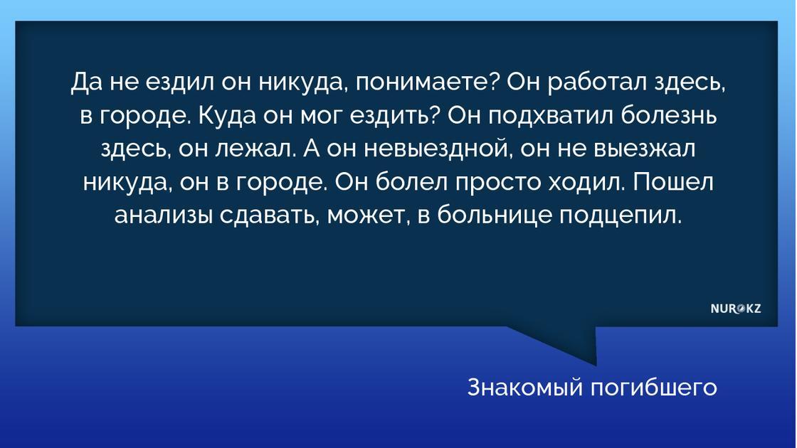 Мужчина умер от коронавируса в Казахстане: знакомые рассказали подробности