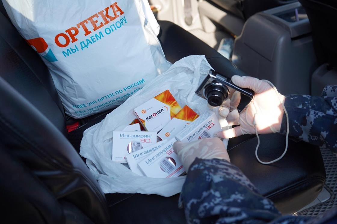 Целый багажник медикаментов изъяли у перекупщика в Костанае (видео)
