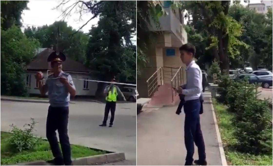 """Здания судов """"заминировали"""" в Алматы (видео)"""