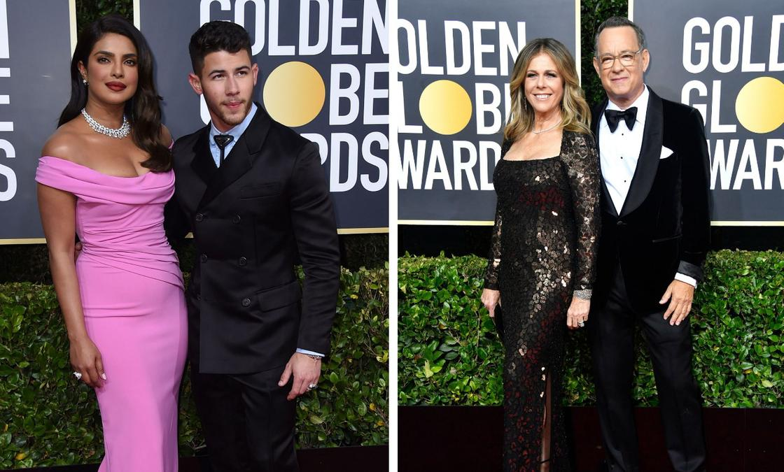 Приянка Чопра и Ник Джонас / Том Хэнкс и Рита Уилсон. Фото: edition.cnn.com
