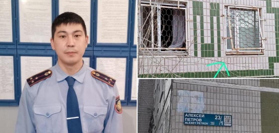 Рискуя своей жизнью, полицейский спас женщину от смерти в Нур-Султане