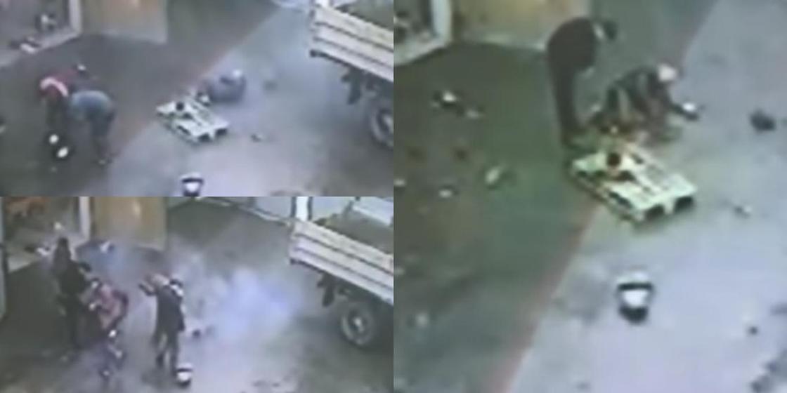 Алакөл ұлттық саябағындағы жарылыс видеоға түсіп қалған