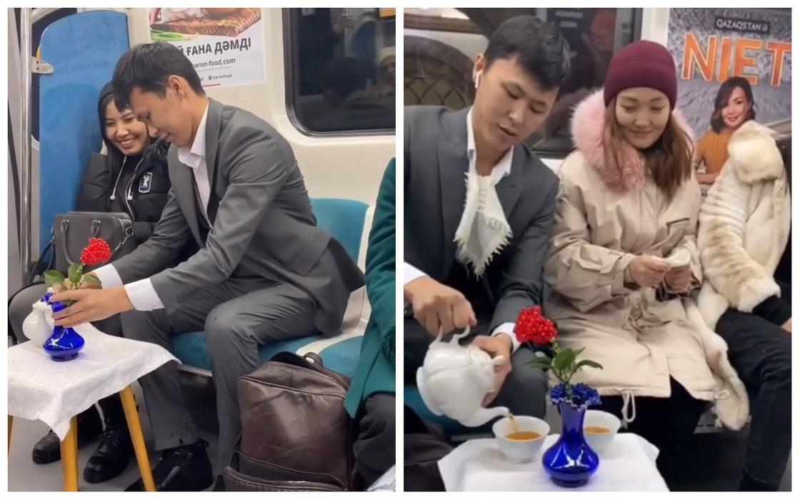 Алматинское метро стало местом для свиданий