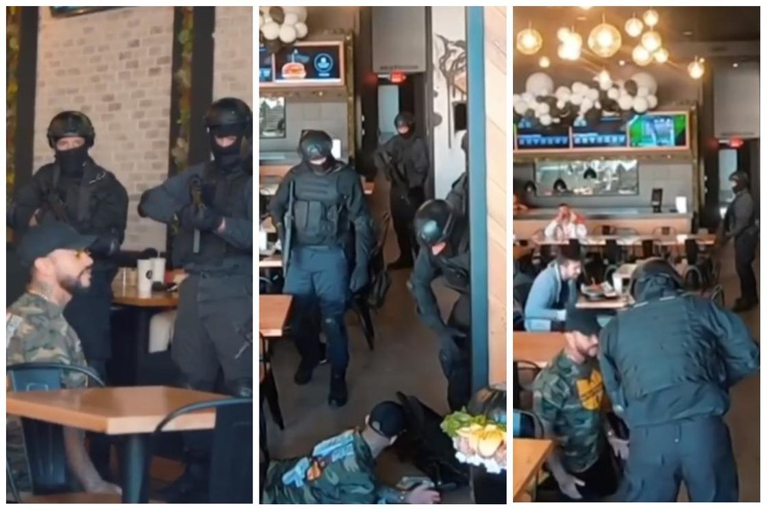 Бургерную Тимати атаковал спецназ в США: рэпера поставили на колени (видео)