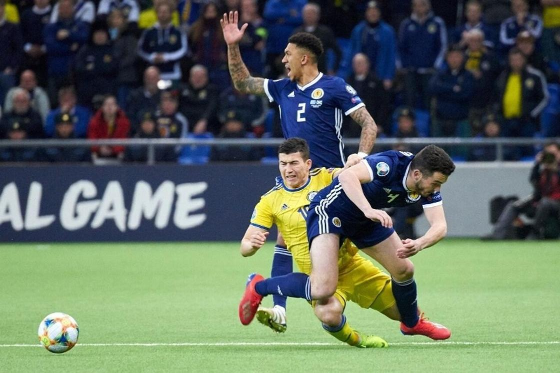 Қазақстан Евро-2020 іріктеуінде Шотландияны ойсырата жеңді (фото)