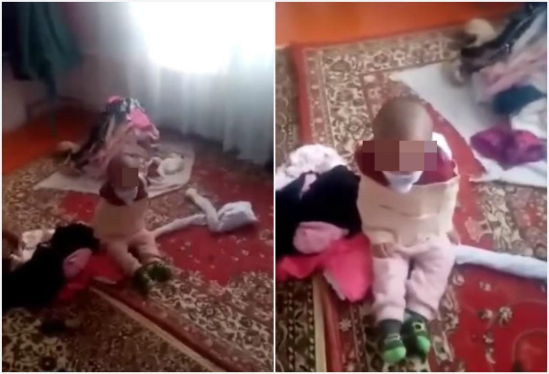 Жуткое видео со связанным ребенком появилось в Казнете