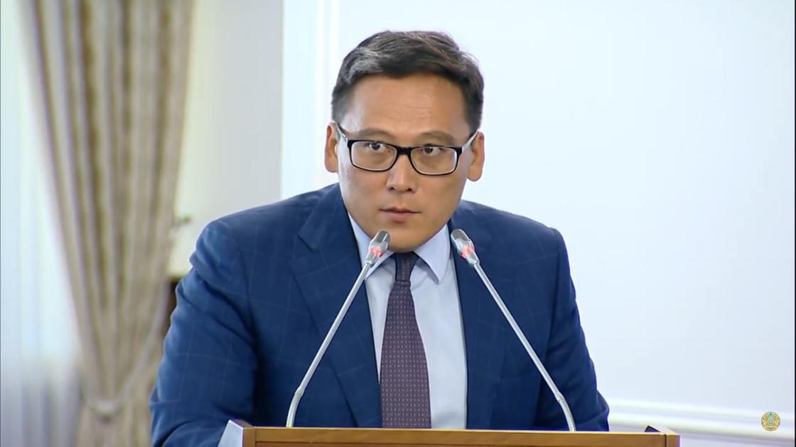 Дамир Шыныбеков. Фото: кадр PrimeMinister.kz YouTube-арнасының видеосынан