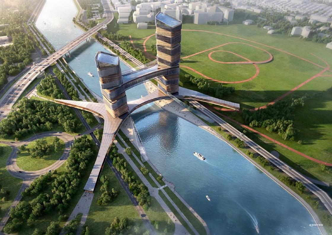 Новый мост с башнями в 42 этажа построят в Нур-Султане