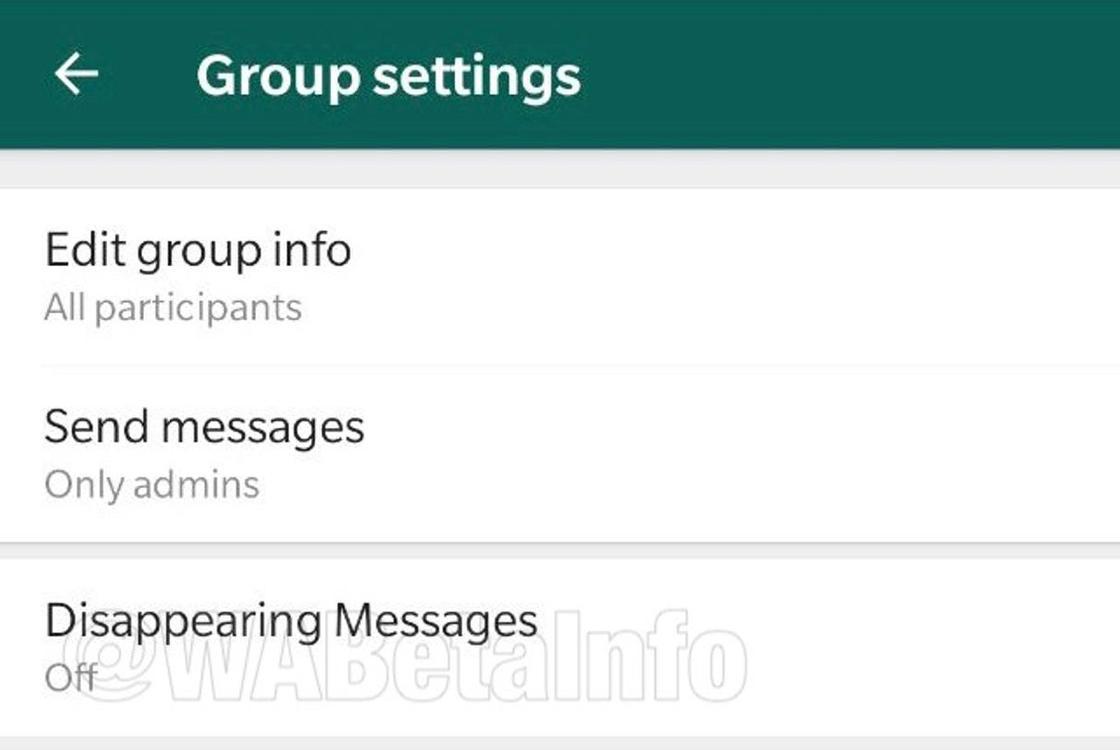 Исчезающие сообщения появятся в WhatsApp