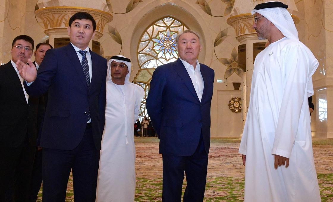 Опубликовано видео визита Назарбаева в ОАЭ