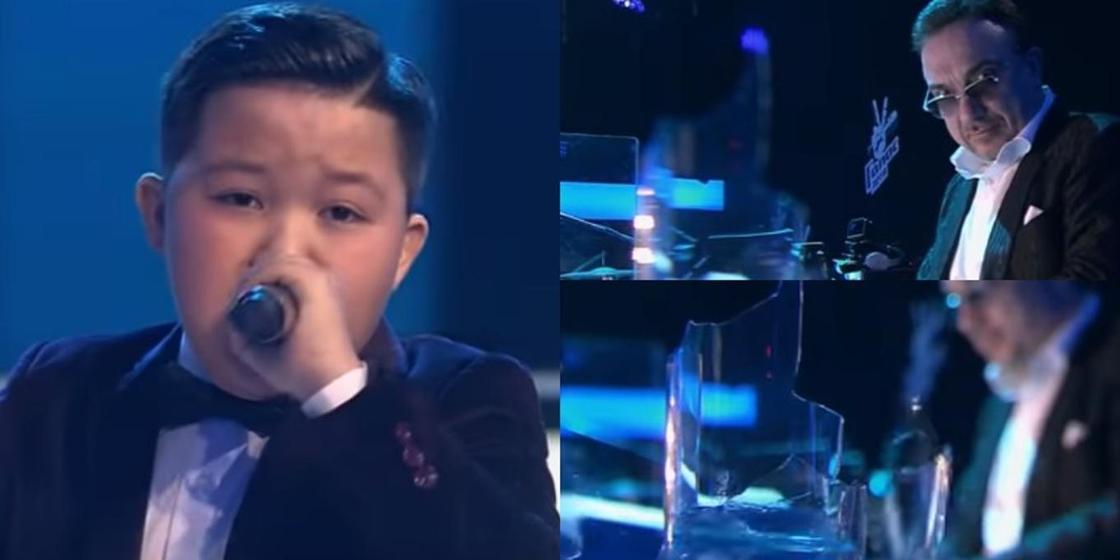 """11 жастағы қазақстандық әншінің дауысынан """"Голос. Дети"""" байқауында стақан сынып кетті (видео)"""