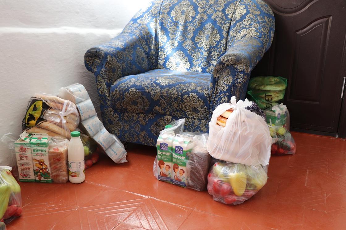 Продукты в пункте эвакуации