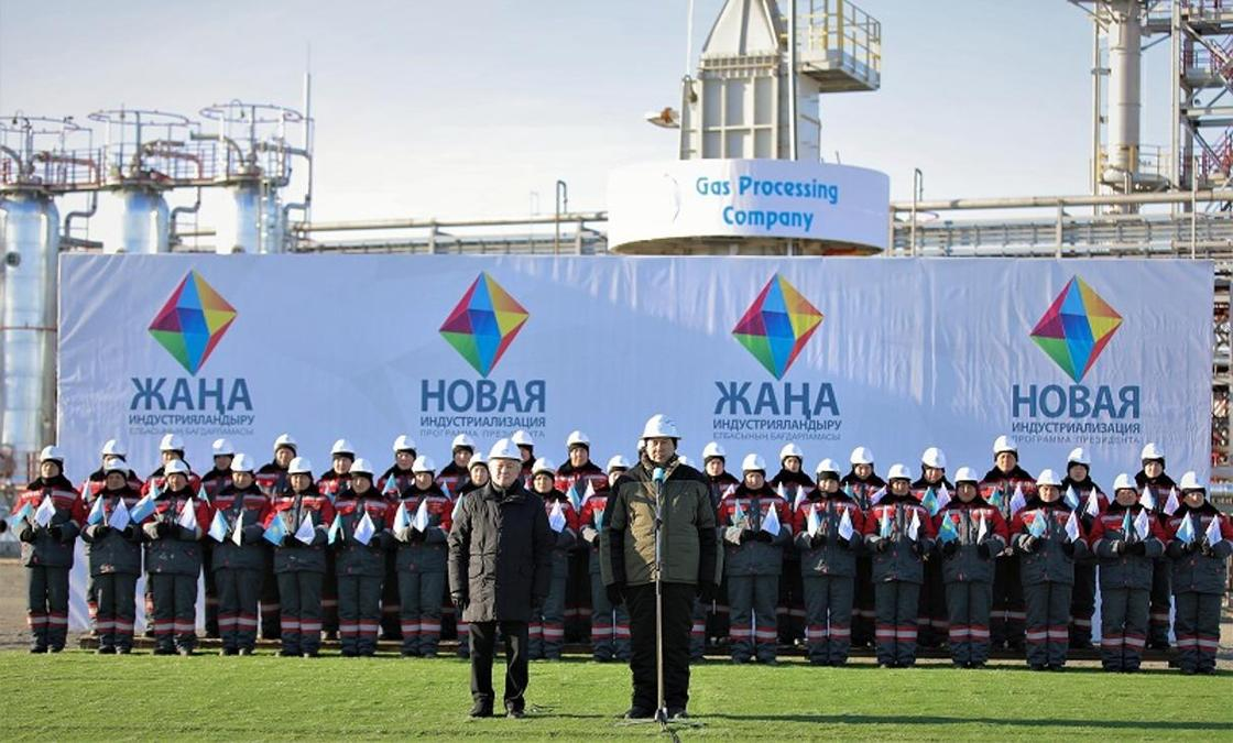 Президент запустил новый газоперерабатывающий комплекс в Актюбинской области