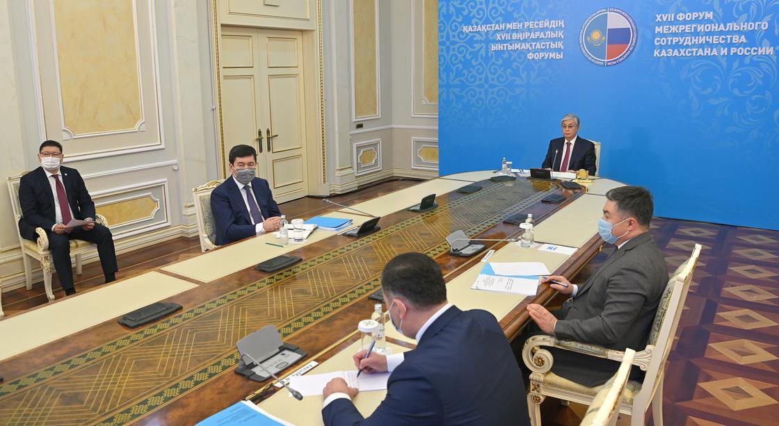 Касым-Жомарт Токаев на XVII Форуме межрегионального сотрудничества Казахстана и России