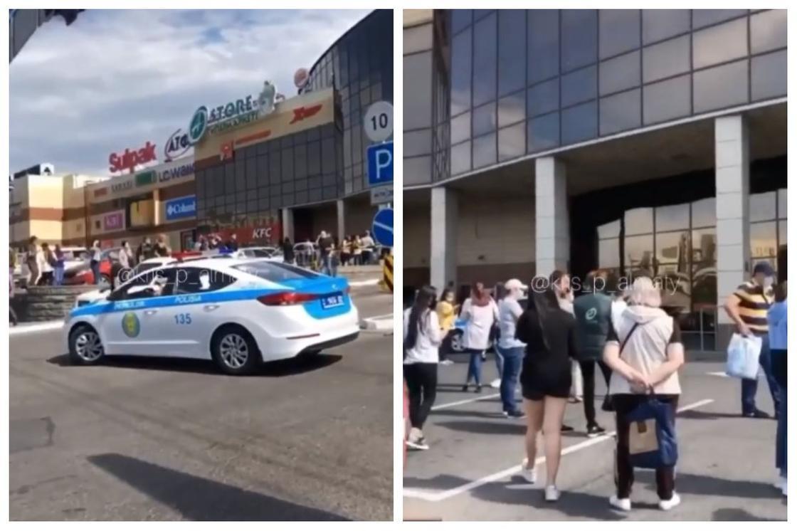 Алматыда ADK сауда орталығынан адамдар эвакуацияланып жатыр