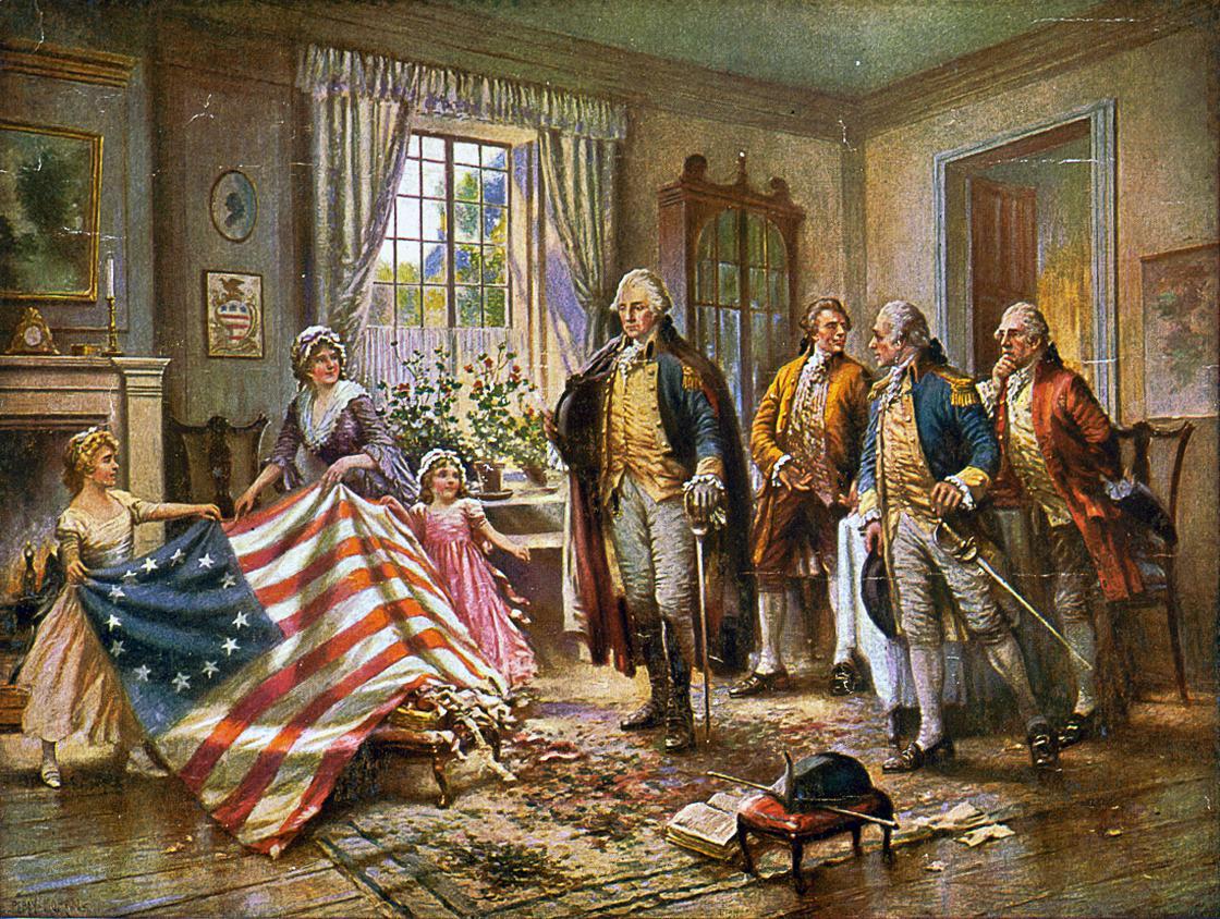 Бетси Росс с первым флагом США