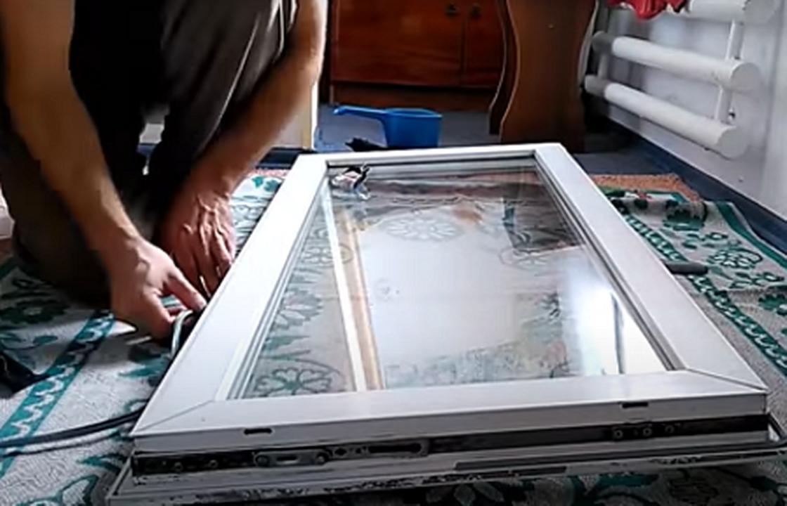 Замена резинового уплотнителя на окне