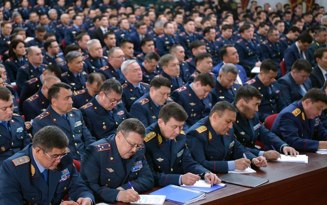 Қазақстан Президенті Ішкі істер министрлігінің кеңейтілген алқа отырысына қатысты