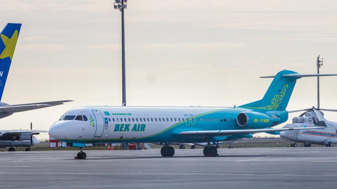 Bek Air прокомментировала крушение своего самолета в Алматы