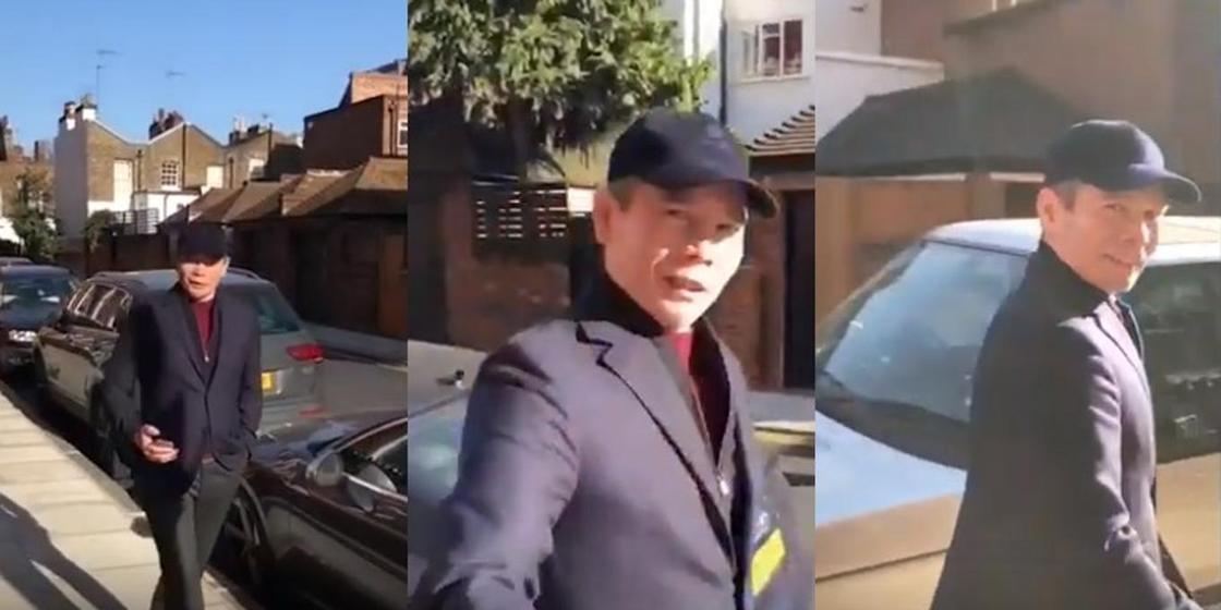 Бергей Рысқалиев Лондон көшелерінде серуендеп жүргені видеоға түсіп қалды (видео)