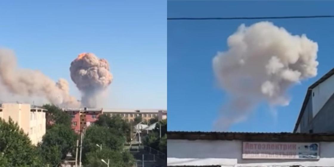 Түркістан облысында әскери қоймада жарылыс болды