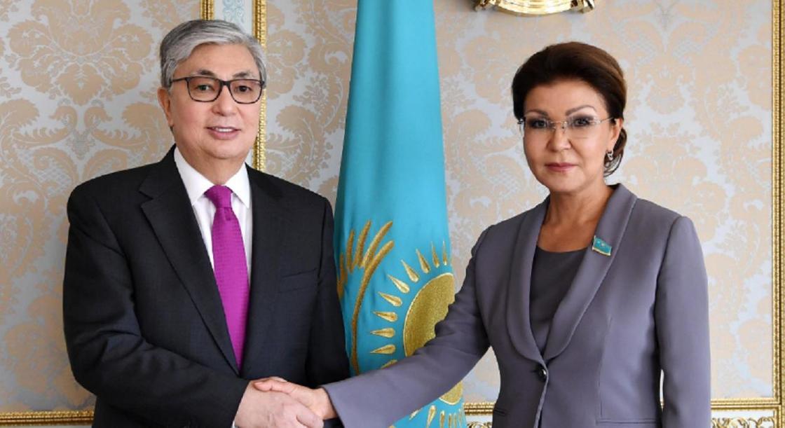 Қасым-Жомарт Тоқаев пен Дариға Назарбаева. Фото: Ақорда
