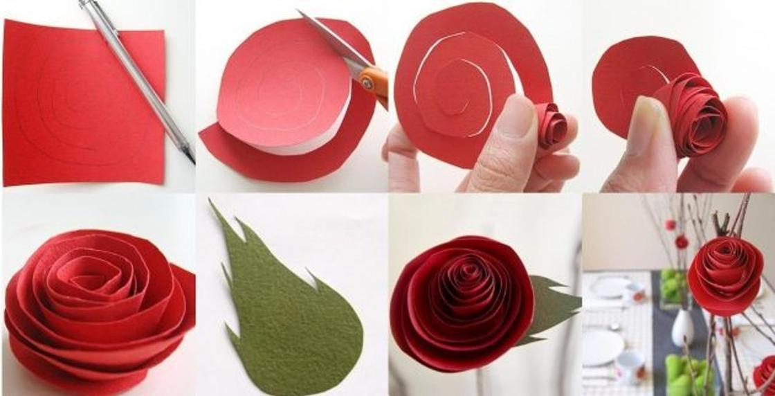 Как сделать цветок из бумаги легко и просто