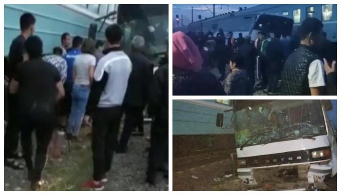 Спецкомиссия работает на месте аварии с поездом в Алматинской областиl
