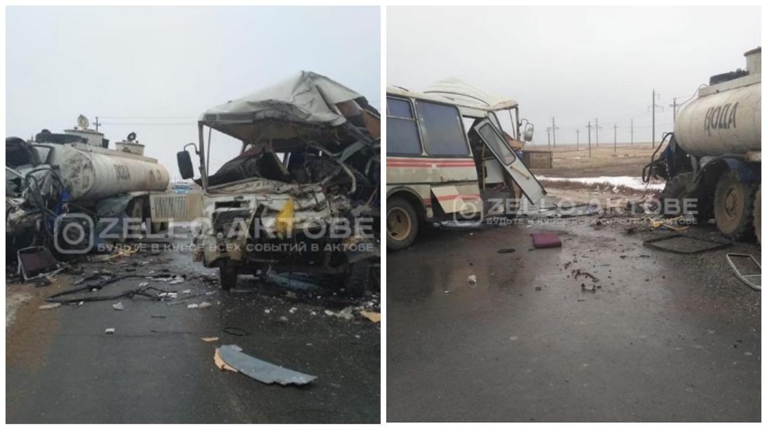 Три человека погибли в страшном ДТП с автобусом в Актюбинской области (фото)