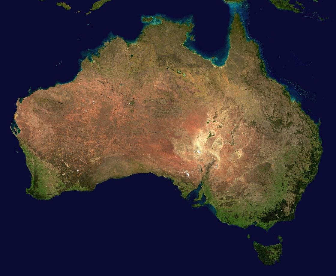 карта Австралия