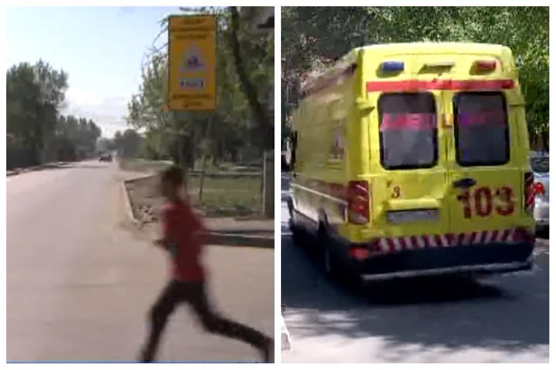 Трех детей сбили рядом со школой на глазах у матери в Алматы (видео)