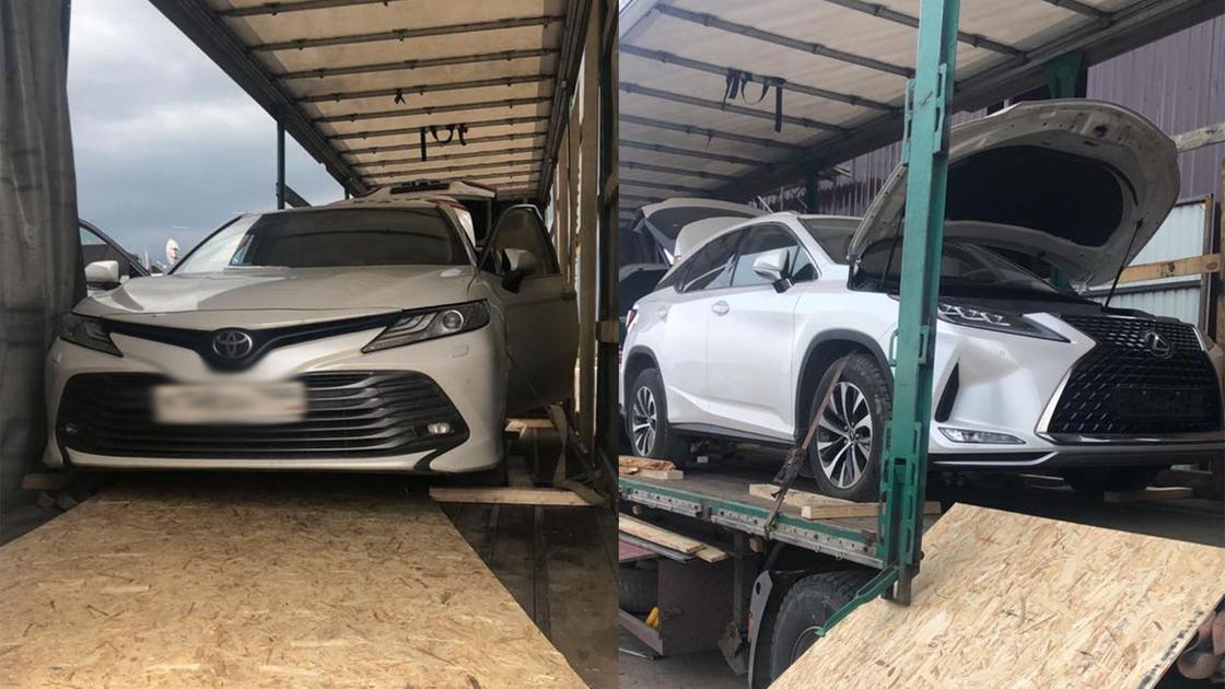 Camry и Lexus RX пытались незаконно ввезти в Казахстан