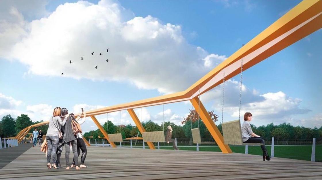 Проект нового пешеходного моста в Нур-Султане