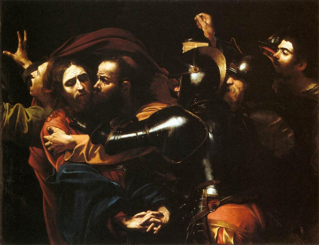 «Поцелуй Иуды» Микеланджело Караваджо