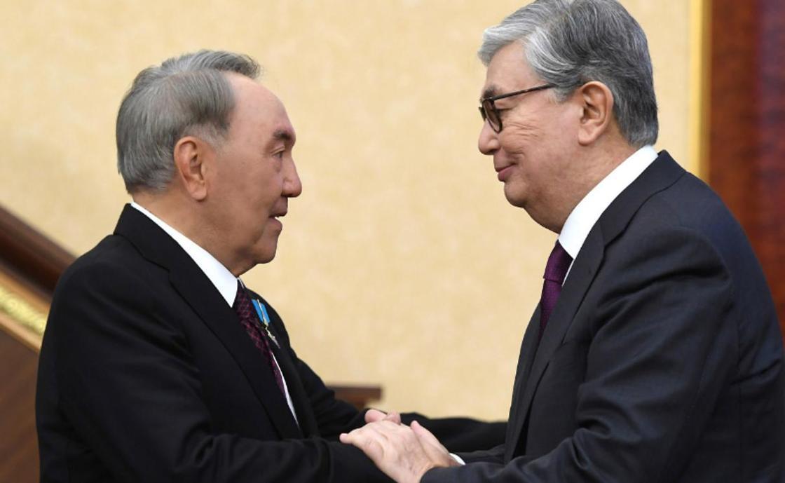 Нұрсұлтан Назарбаев и Қасым-Жомарт Тоқаев. Фото: Ақорда