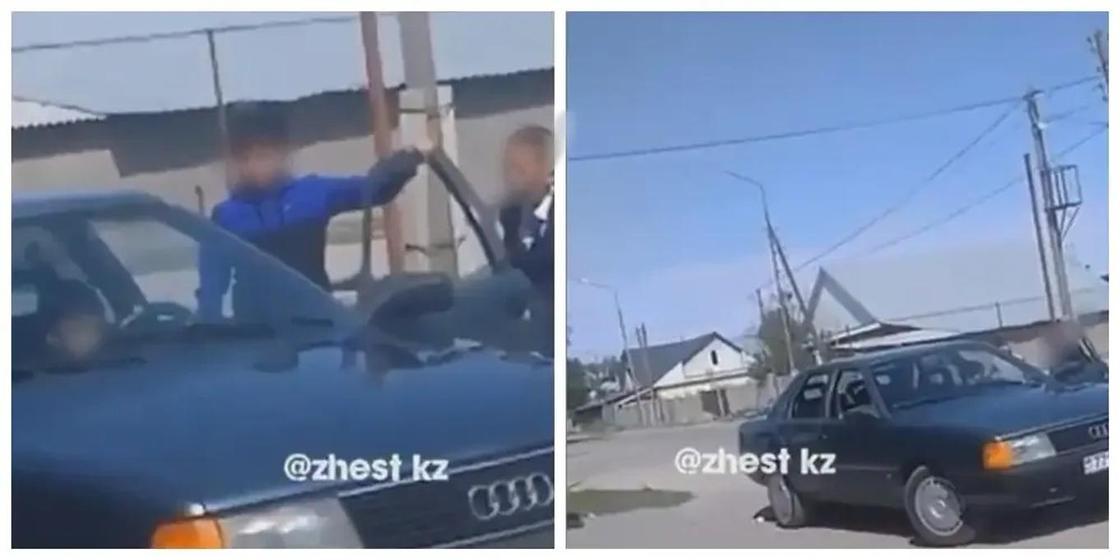 Подросток разъезжал за рулем машины в Алматинской области