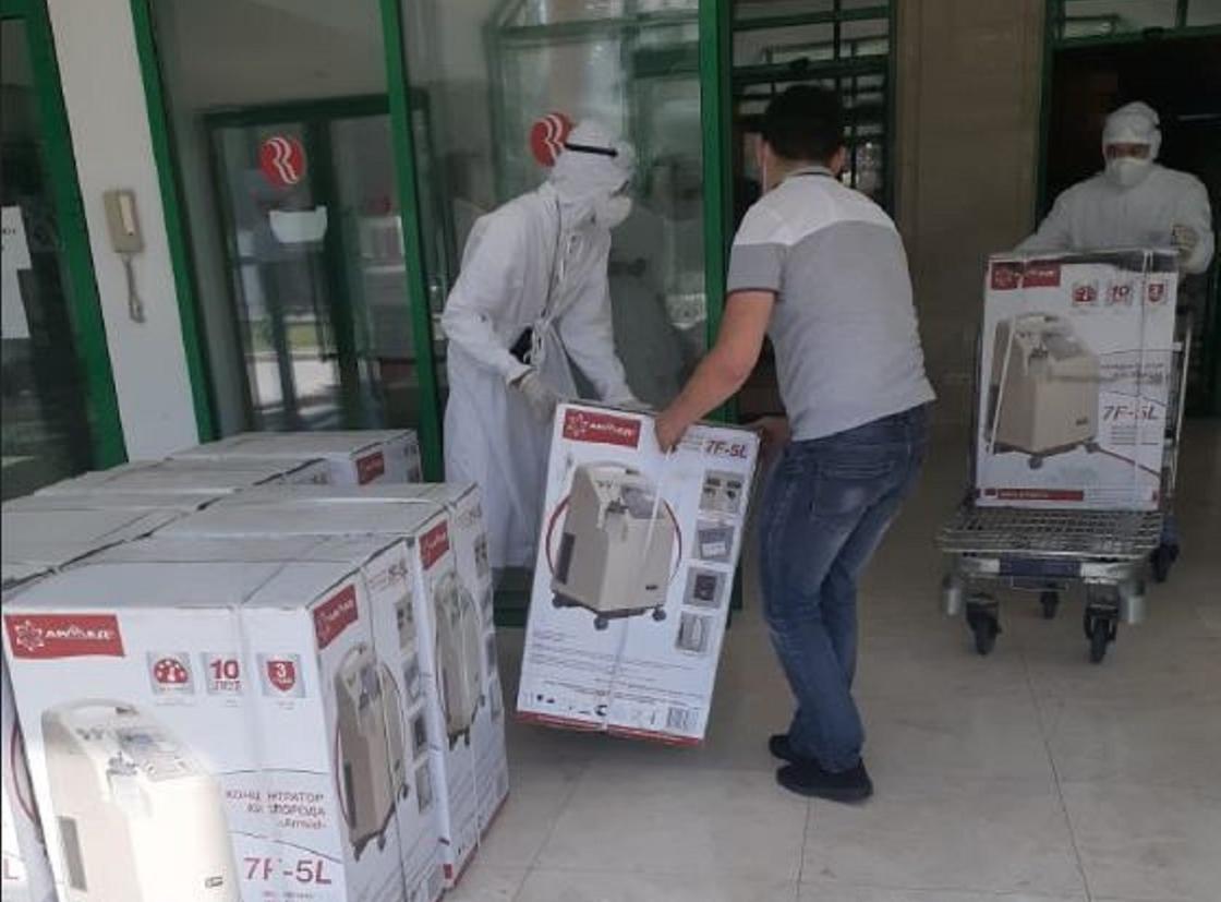 Оборудование для лечения COVID-19 поступило в медучреждения Нур-Султана