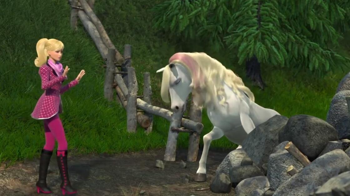 Кадр из мультфильма «Барби и ее сестры в Сказке о пони»