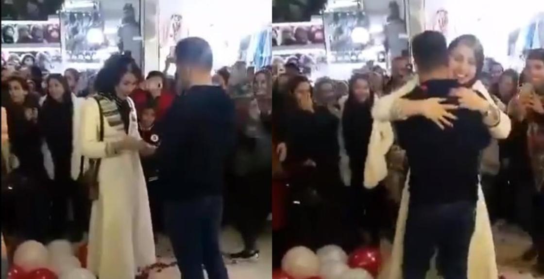 Парень сделал предложение возлюбленной на глазах у толпы и схлопотал арест (видео)