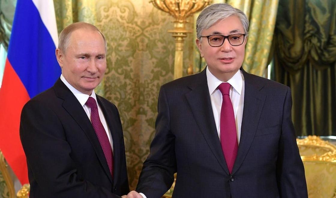 Владимир Путин, Қасым-Жомарт Тоқаев, фото: Ақорда