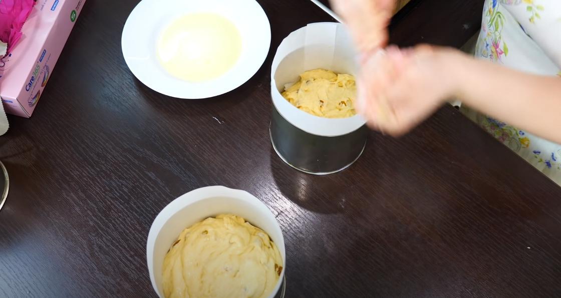 Тесто для куличей в форме