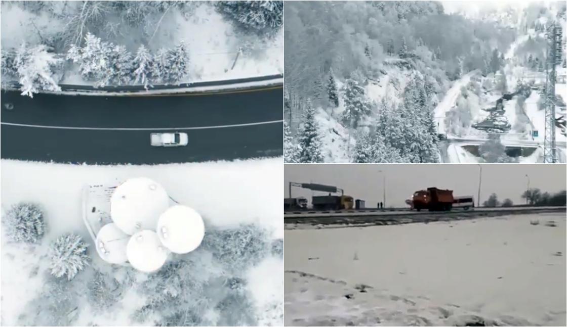 Весь город в снежном плену: последствия снегопада в Алматы (фото, видео)