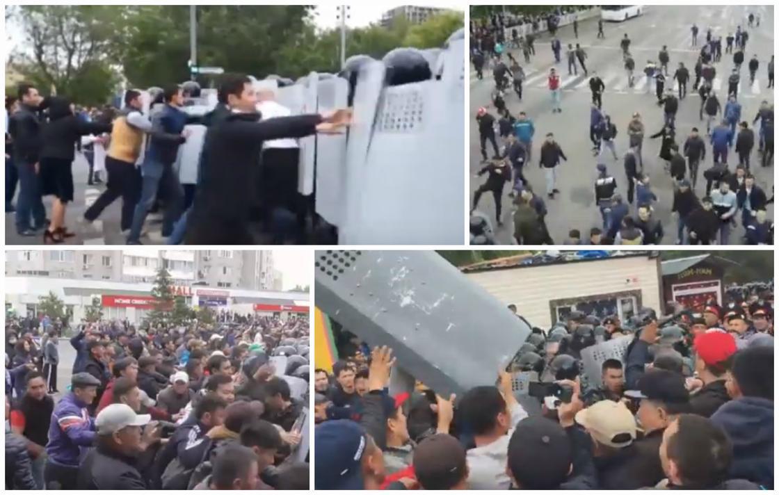 Митинги в Казахстане: видео с места событий показало МВД