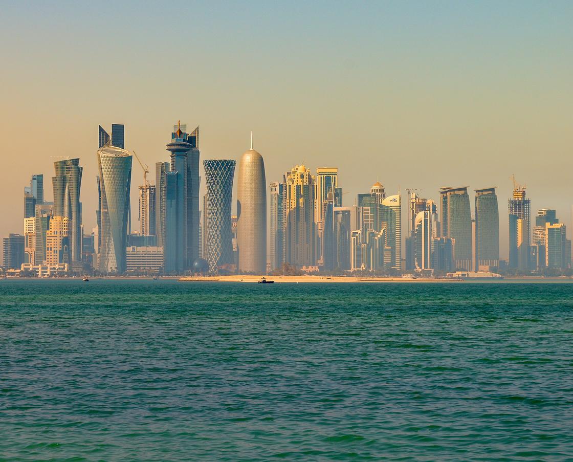 Вид на Доху