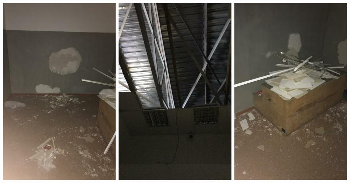 Потолок обрушился на учеников школы в Актобе: есть пострадавшие (фото)