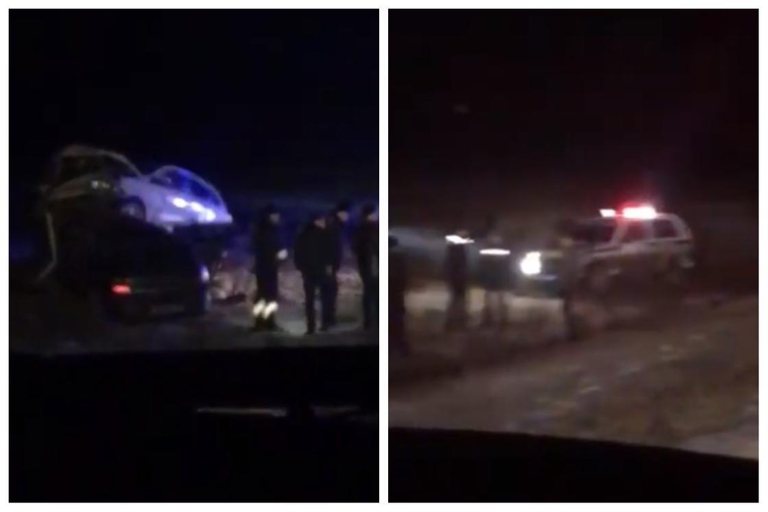 Автомобиль со школьниками попал в смертельное ДТП в Атырауской области (видео)